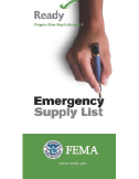 FEMA Ready.gov: Assemble a Go-Kit