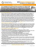 NDIN Tip Sheet: Faith Communities & Risk Communication