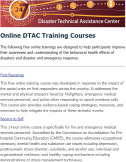 SAMHSA Disaster Technical Assistance Center Training Courses