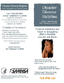 Substance Abuse and Mental Health Services Administration: Disaster Distress Helpline