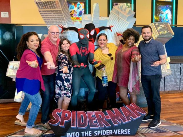 "Pa'Lante Puerto Rico, Project Regfuge, and NYDIS attend the ""Into the Spiderverse"" Screening in Anasco, Puerto Rico"