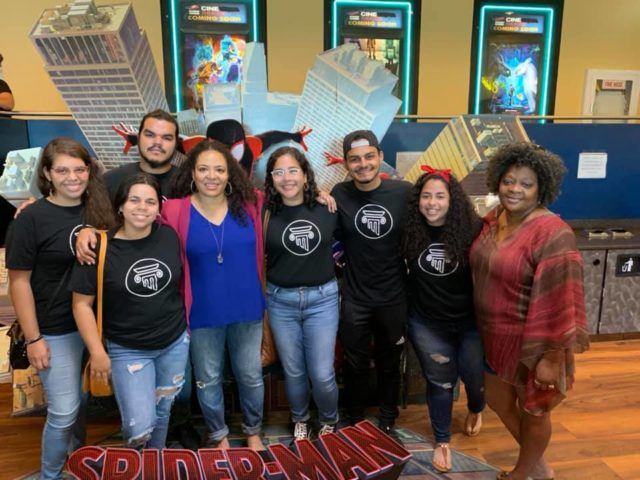 "Luna Lauren Velez sponsors screening of ""Spiderman: Into the Spiderverse"" for children in Anasco, Puerto Rico"