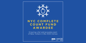 Press Release: NYDIS Announced as $200,000 Complete Count Fund Awardee
