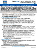 NYDIS Tip Sheet: Continuity of Operations Planning for Congregations and FBOs