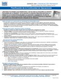 NYDIS Hoja de Consejo: Planificación de la Continuidad de Operaciones