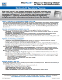NYDIS Tip Sheet: Continuity Of Operations Planning