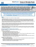 NYDIS Tip Sheet: Faith Communities & Trauma Resilience