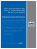 COVID-19: House of Worship Reopening Requirements - Localized Restrictions
